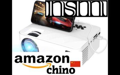 AMAZON CHINO – TOPVISION Mini Proyector con Pantalla de Espejo